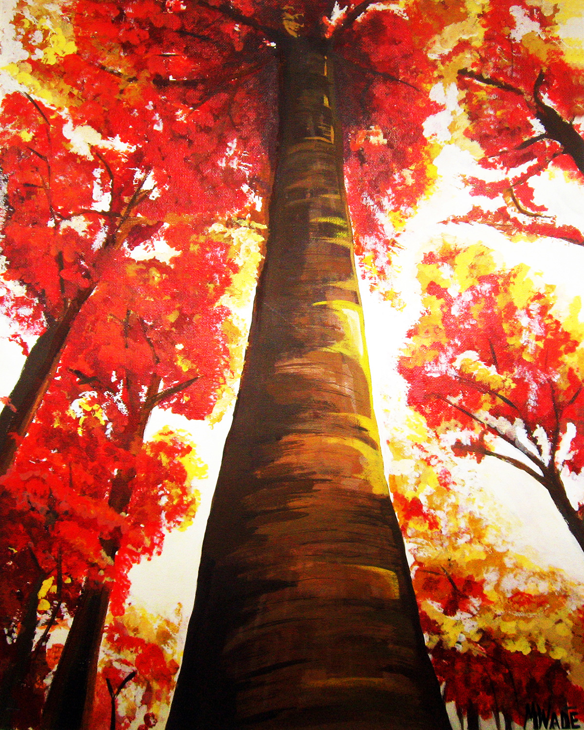 This painting got my through a hard time in my life for Fall pictures to paint