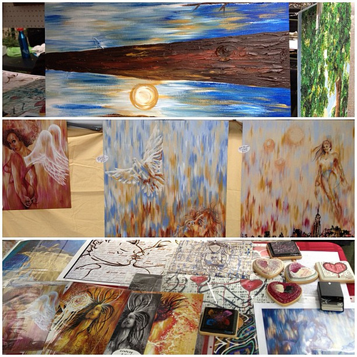 pic-stich of my booth