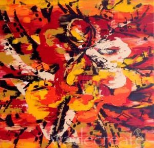 "movement flows through me ::: 30x30"" acrylic on canvas"