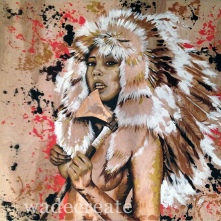 """conquer your fears - 36x36"""" acrylic on wood, sold"""