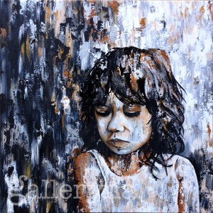 "the dreamer - 36x38"" acrylic on canvas, $950"